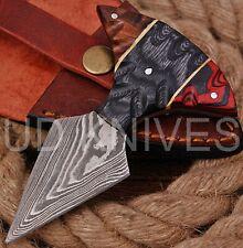 UD CUSTOM HANDMADE 1095 DAMASCUS STEEL  FULL TANG HUNTING KNIFE 9472