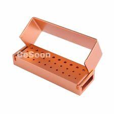 Titolare 30 Holes Dental Bur blocco alluminio disinfezione Box Autoclave FG Burs