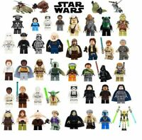 Lego Star Wars Han Solo Obi-Wan Skywalker Vader Minifigures building Toys blocks