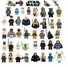 Lego Star Wars Han Solo Obi-Wan Skywalker Vader Leia Minifigures building blocks