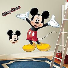 Disney Mickey Mouse Peel Sticker Giant Wall Art Decal Removable Kids Fat Head