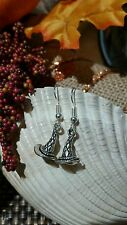 """Halloween Holidays  """"3D Witch hat""""  Earrings - New Free Shipping"""