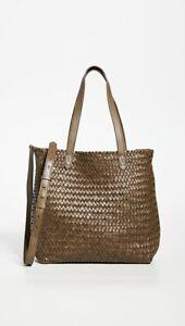 NWT Madewell Medium Transport Tote Bag Woven Leather Foliage Multi