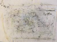 très beau dessin Encre Jacqueline Pavlowski signé abstrait tableauCubisme