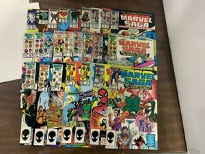 MARVEL SAGA #1-25, (1985) Marvel comics (CC2) Spider-Man, X-men, Avengers