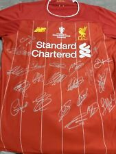 Liverpool 2019/2020 Personally Hand Signed Jersey Epl Premiers +Coa