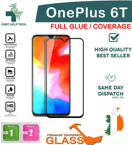 For OnePlus 6T 1+6T Tempered Glass 9D Curved Screen Protector Full Coverage New