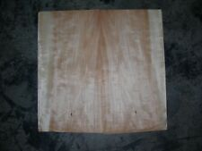Anegre Wood Veneer. 10 x 19.5, 16 Sheets.