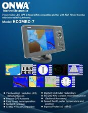 GPS plotter/Fish Finder  w/patched GPS antenna & transducer included -Kcobmo7