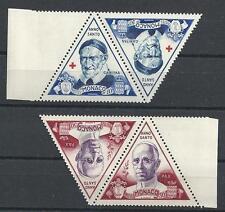 Monaco 1951 Sc# 262-63 St Vinsent de Paul  Anno Santo Pax se-tenant pairs MNH