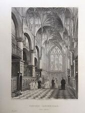 1836 print; Oxford Catherdral, le choeur, Oxford