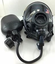SGE 400/3 Infinity NBC Tactical Gas Mask w Drinking Port & Canteen >made in 2017