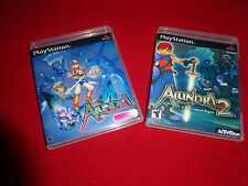 Empty Replacement Cases   -  Alundra 1 2 PlayStation 1 PS1 PSX PS3