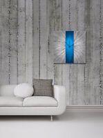 Modern Blue Silver Wall Clock Contemporary Decor Large Metal Abstract Art Clocks