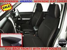 VOLKSWAGEN AMAROK FRONT NEOPRENE SEAT COVERS FULL COVERAGE + MAP POCKETS X 2
