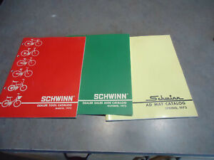 Schwinn 1972 -73 dealers catalog lot tools , advertising sting-ray bicycle bike