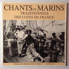 2 DISQUES 33T CHANTS DE MARINS TRADITIONNELS DES COTES DE FRANCE VOL.1