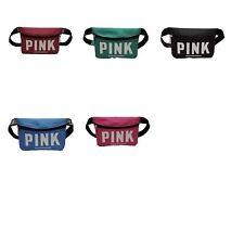 US stock new V fashion Pink multicolor belted waist pouch fanny pack