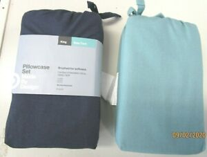 PILLOWCASE SET...KING SIZE..CHOICE OF 2 COLORS
