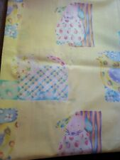 """Sewing Fabric Covington 2.2ydsx56"""" Cotton Yellow w Patchwork Pastel Baby Animals"""