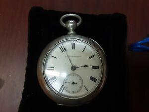 Antique HAMPDEN Pocketwatch 18s Circa 1877 Parts Or Repair #C4