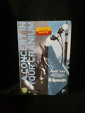 Klipsch Image S4A Noise Isolating In-Ear Headphones Android Black Damaged Box