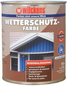 Wetterschutzfarbe Wilckens Holzdeckfarbe seidenglanz Innen/Außen UVbeständig
