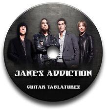 JANE'S ADDICTION GUITARE ROCK TABLATURE TABLATURE LIVRE MUSICAL CD DU LOGICIEL