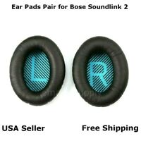 Ear Cushion Pads Pair Black for Bose Soundlink 2 Headphones Free Fast Shipping
