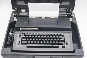 Brother Correct-O-Ball Model SL-7800 Portable Electric Typewriter with Case