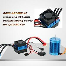 GoolRC 3650 4370KV 4P Sensorless Brushless Motor & 45A ESC for 1/10 RC Car U3S8