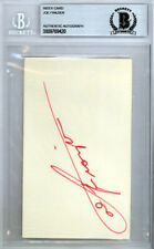 Joe Frazier Authentic Autographed Signed 3x5 Index Card Beckett 9769420