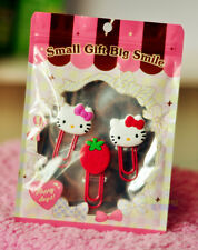 3 Pcs Hello Kitty Note Office Paper Clip School Supplies Study Article