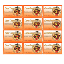 (12) Beauty Bars Carrot Complexion Soap Skin Tone Improvement w/ Carrot Oil