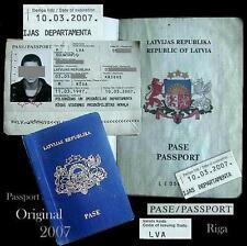 Anc.document-passeport-LATVIA-Russe-CCCP-URSS-soviétique-Russie-2007-rare