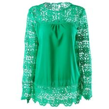 Women's Sexy Lace Flower Chiffon Tops Ladies Summer Fashion Casual Loose Blouse