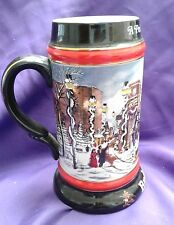"""1992 Budweiser Collector's Series """"A Perfect Christmas"""" Stein"""
