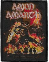 Official Licensed Merch Woven Sew-on PATCH Metal Rock AMON AMARTH Surtur Rising