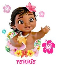 ****** DISNEY BABY MOANA PERSONALIZED**********FABRIC/T-SHIRT IRON ON TRANSFER