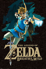 LEGEND OF ZELDA BREATH OF THE WILD BOW 24x36 POSTER NINTENDO CLASSIC ICON GIFT!!