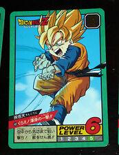 DRAGON BALL Z DBZ SUPER BATTLE POWER LEVEL PART 10 CARD CARTE 402 JAPAN 1994 NM