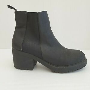London Rebel Agent Womens Slip On Ankle Boot Size 8 BO38