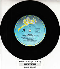 """WHAM!  Young Guns (Go For It) GEORGE MICHAEL 7"""" 45 record + juke box title strip"""