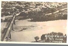 RPPC,Villa Acuna,Mexico,Bird's Eye View of Town & Rio Grande,Lippe Photo,c.1940>