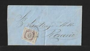URUGUAY TO ROSARIO 60Cts WIDE MARGINS COVER 1862