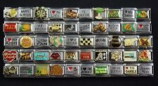 Italian Charms 50 assorted Stainless Steel Wholesale Lot 9mm  (C50-83)