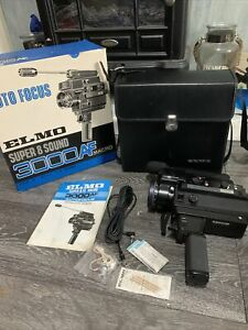 ELMO Super 8 Sound 3000AF - Low Light Camera With Extendable Action Mic & Case