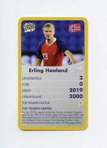 #TN19979 ERLING HAALAND 2019 Belgium Fussball Quartett ROOKIE Norway Card RARE