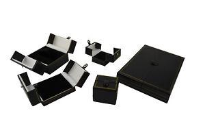 LUXURY DOUBLE DOOR LEATHERETTE BOX RANGE JEWELLERY SHOP QUALITY GIFT DISPLAY BOX