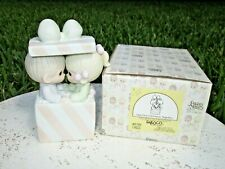 Precious Moments Figurine 101702 box Our First Xmas Together Porcelain Musical